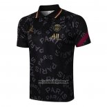 Camiseta Polo del Paris Saint-Germain 2021 2022 Negro