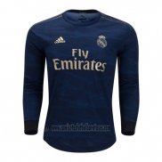 Camiseta Real Madrid Segunda Manga Larga 2019 2020